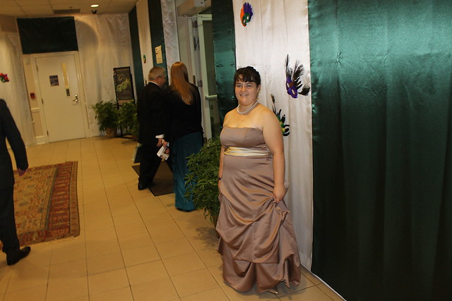 Student Emily Duck at the 2012 Annual Green and White Ball