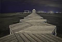 Andar el camino (Marcelo Reche Cañadas) Tags: costa landscape nikon manga paisaje murcia pasarela nocturna marmenor marcelo santiagodelaribera reche