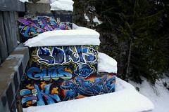 Ruk, Soak, Guts, Sikl, Buck (*burlie*) Tags: canada art whistler graffiti soak buck guts ruk sikl