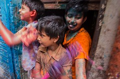 Children's Holi (Sharif Ripon (totographer)) Tags: portrait festival religious spring dhaka tradition hinduism holi bangladesh