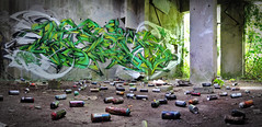 Weis_ATG (blairniemichelle) Tags: art aerosol ambiance atg abandonee abandone abstrait amwa entrepot explore explorer 3d tag tags terrain urbex mur lumière idf paint panoramique paris painting detail degrade decay graff graffiti green moisissure weis canz vert n herbst