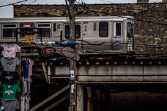 Post-Game Train (Phil Roeder) Tags: chicago illinois canon6d canonef70200mmf4lusm subway train ltrain chicagocubs wrigleyfield cta