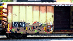 cete KIS (timetomakethepasta) Tags: cete kis freight train graffiti fglk boxcar open door lae gane garz fh