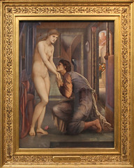 Edward Burne-Jones - Pygmalion and the Image The Soul Attains 1878 (ahisgett) Tags: preraphaelite birmingham art gallery museum