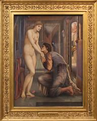 Edward Burne-Jones - Pygmalion and the Image The Soul Attains 1878 (ahisgett) Tags: preraphaelite birmingham art gallery museum