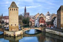 137.365 Strasbourg que tu es belle. (magaly.frances) Tags: france alsace strasbourg nikond5200 photographie photography ville ill rivire petitefrance pointdevue vauban barrage extrieur vue rflection