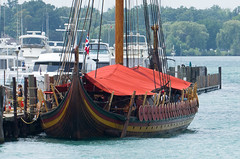Draken Harald Hrfagre at the Detroit Yacht Club (Bill VanderMolen) Tags: drakenharaldhrfagre detroityachtclub explore vikingship tallship tallshipchallenge