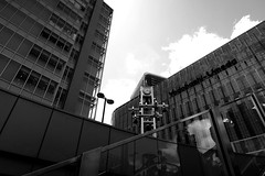 monochrome, Umeda, Osaka (jtabn99) Tags: osaka umeda japan nippon nihon osakastation stairs light blackandwhite downtown