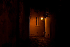 Ticha Praha / Quiet Prague (romanboed) Tags: night leica m 240 summilux 50 czech europe cesko czechia prague panorama spires praha prag praag praga mala strana lesser quarter cobblestones summer street alley hidden city cityscape architecture travel tourism lantern window wall
