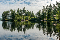 Reflection (Therese stberg) Tags: reflection skog hagfors sverige sweden forest water vann refleksjon nikon nikond300s nature natur landscape landskap sigma 2470mm tre trees tree outdoor