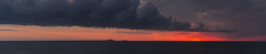 Clouds Rolling In (jason.betzner) Tags: clouds sunrise summer virginia virginiabeach ocean oceanfront seaside seascape seashore boats ships sun red orange sky panoramic pano canon rebelt3 eos water nature beach