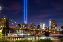 Tribute in Light 2016 (Rafakoy) Tags: newyork 911 september11 twintowers tributeinlight skyline statueofliberty cityscape manhattan downtown ny nyc freedomtower worldtradecenter night lights colors city urban 2016 september