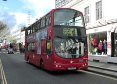 VNW32364, Pembridge Road, Notting Hill, London, 23/04/16 (aecregent) Tags: 230416 londonbuses2016 london pembridgeroad nottinghill towertransit volvo b7tl wright eclipsegemini vnw vnw32364 lk04hyt 31