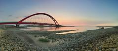 () (szintzhen) Tags:          sunset sunglow bridge water reflection sky taoyuancity taiwan photomerge