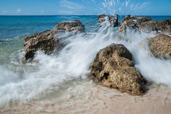 Splash (PaulHoo) Tags: cuba water splash sea coast sand blue sky 2015