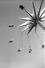 Fun at the Fair! (Michael VH) Tags: fair fun high cable ride yashica yashicaa delta 100 11 12 minutes 68f self developed black white film tlr