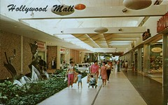 Hollywood Mall Center, Florida (SwellMap) Tags: postcard vintage retro pc chrome 50s 60s sixties fifties roadside midcentury populuxe atomicage nostalgia americana advertising coldwar suburbia consumer babyboomer kitsch spaceage design style googie architecture mall store plaza