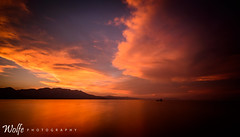 Smoky Sunset (Aaron_Smith_Wolfe_Photography) Tags: tahoekeys laketahoe california sunset sierramountains sierranevada lake