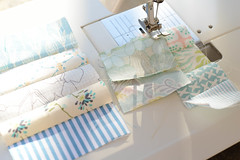 keeping my scraps under controll (balu51) Tags: patchwork quilting sewing stashsewing scraps quiltasyougo fabric strips blue white cream pastel sewingmachine backlight lateafternoon 60mm september 2016 copyrightbybalu51