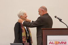2016 - August - CHS - Dean Jolly Medalion Ceremony-34.jpg (ISU College of Human Sciences) Tags: dunn jolly laura back convocation dean leath president stephenleath steven welcome