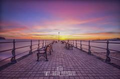 Banjo Sunrise. (Emily_Endean_Photography) Tags: banjo pier sunrise swanage dorset sea seascape season seaside coast landscape colours sun pinks autumn architecture horizon nikon amazing beautiful beach jurassiccoast