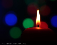 _candlelight_Please Handle With Care... (NadzNidzPhotography) Tags: contrast macro art green red flame yellow bright macromondays handlewithcare nadznidzphotography candlelight artofbokeh fujifilmxt10 fujinonxf60mmf24rmacro blackbackground digitalphotography digitalfuji bokeh candleburning candle light dof depthoffield