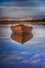 IMGP7183_1 (jarle.kvam) Tags: mountain rwflwction lake skyporn norway valdres tranquility rowingboat boat robt