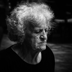 Thoughts In Struga (Alfred Grupstra Photography (bussy until 30 octobe) Tags: bw blackandwhite people portrait street streetphotography streetlife woman struga municipalityofstruga macedonivjrm mk