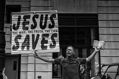 Broad Street, 2016 (Alan Barr) Tags: philadelphia 2016 broadstreet pifa religion street sp streetphotography streetphoto blackandwhite bw blackwhite mono monochrome candid people panasonic lumix gx8