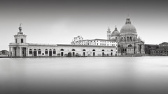 Revisited (GlennDriver) Tags: black white bw venice long exposure canal water church europe blakcandwhite city