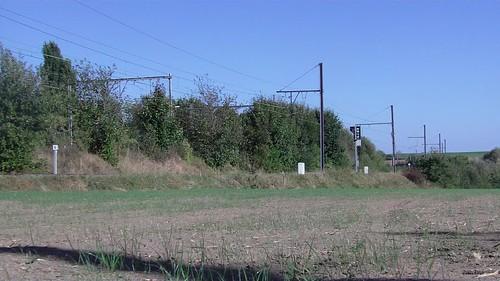 """Movie van een testrit van NS IC 'Benelux"""" hier op de inrit van Landen lijn 21"""
