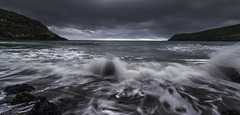 No sunrise but... (DanielBartolo) Tags: pocketsofawesome christchurchnz newzealand beach seascape nature landscape light sunrise sun spring moody waves sea river water fog flower bokeh