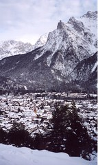 Happy New Year 2013 (bunagaya-santasan) Tags: snow berg germany landscape deutschland village  mittenwald