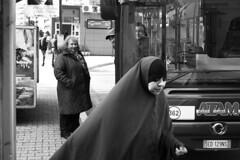 Diversit (ninni garnett) Tags: portrait people bw bus blackwhite hijab streetphotography biancoenero chador khimar