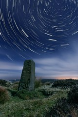 Star Trail Experiment (metrisk) Tags: uk longexposure night stars landscape standingstones moors northyorkmoors northyorkshire grosmont eskvalley sleightsmoor greatbritishlandscapes