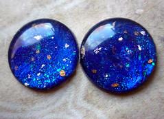 "Blythe handpainted eyechips - ""Starry Night"""