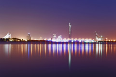 850E4103 - Creek Night (crimsonbelt) Tags: park longexposure night creek reflections dubai