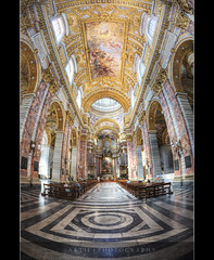 San Carlo al Corso, Rome, Italy :: HDR (Artie | Photography :: I'm a lazy boy :)) Tags: italy rome church architecture photoshop canon painting cathedral basilica decoration engineering structure symmetry fisheye handheld marble 15mm f28 ef hdr artie 1610 cs3 3xp photomatix tonemapping tonemap sancarloalcorso santambrogioecarloalcorso 5dmarkii 5dm2