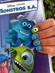 Monstros S.A. (Julia Bergamin) Tags: verde art mike nail disney monsters das sa inc cora violeta sulley balano rvores maa monstros dote charmosa colorama blant