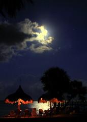 Nighttime Paradise ~ Full Wolf Moon (KM Preston Photography) Tags: water weather night project paradise nightscape cloudy fullmoon hut 100views nightsky planetearth indianriver sebastianfl yahooweather indianriverdrive projectweather