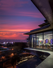 Geisel Library (Chimay Bleue) Tags: california school sunset window architecture sunrise concrete design san university view interior library central diego william structure architect socal inside wong gin bibliotheque brutalism beton brutalist ucsd postwar brut geisel pereira pspf