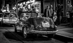 la dolce vita | san francisco (elmofoto) Tags: sf sanfrancisco street blackandwhite bw classic monochrome car restaurant evening italian nikon fiat parking ladolcevita 600 northbeach sfbayarea friday littleitaly curb d800 columbusave seicento fav25 nikond800 elmofoto drinkandclick forcurators