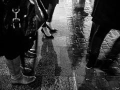 The walkway. (Bart) Tags: street people blackandwhite bw black monochrome lost lumix photography blackwhite thought noir candid strangers streetphotography olympus stranger nb panasonic micro 17 20mm rue blanc lostinthought noirblanc photoderue f17 m43 mft epl1 micro43 microfourthirds microfourthird 43 20mmf17 g2017 epl1micro43