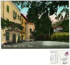 Roncegno Terme, le terme, 1963 (Ecomuseo Valsugana | Croxarie) Tags: cartolina 1963 roncegno sittoni montibeller roncegnoterme croxarie giuseppesittoni