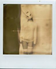 The White Rabbit (@n) Tags: blackandwhite girl nude polaroid mask tales alice bn carroll masked wonderland polaroid600 lewiscarroll whiterabbit artisticnude aliceinthewonderland px600
