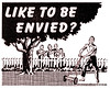 Lawn Mower Envy (paul.malon) Tags: 1948 1940s neighbours postwar envious lawnmover vintageads scannedandretouchedbypaulmalon