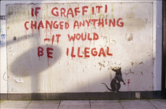 (333Bracket) Tags: streetart london film 35mm graffiti rat banksy illegal analogue 333bracket pentaxasahisp100055mmf2