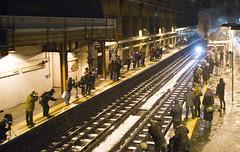 Waiting for Metropolitan No.1 (Hawkeye2011) Tags: uk london train metro transport tube railway steam barbican londonunderground metropolitan tfl lu150
