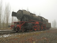 Stoomloc 23 058(Emmerich 16-2-2013)5 (Ronnie Venhorst) Tags: modern train star am br zug db steam 23 trein dlm dampf stoomtrein emmerich hauenstein friese 058 stoomlocomotief baureihe 2013 maatschappij br23 stoomloc fstm stroomtrein