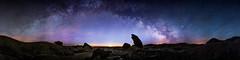 Toadstools Milky Way (David Kingham) Tags: nightphotography panorama nebraska rocks astrophotography toadstools milkyway